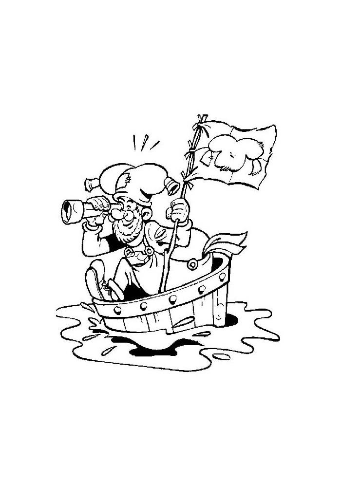 Kabouter Plop - in de boot