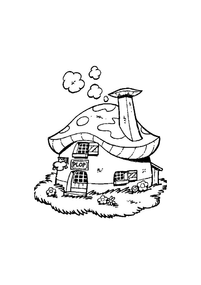kabouter Plop - huisje van plop