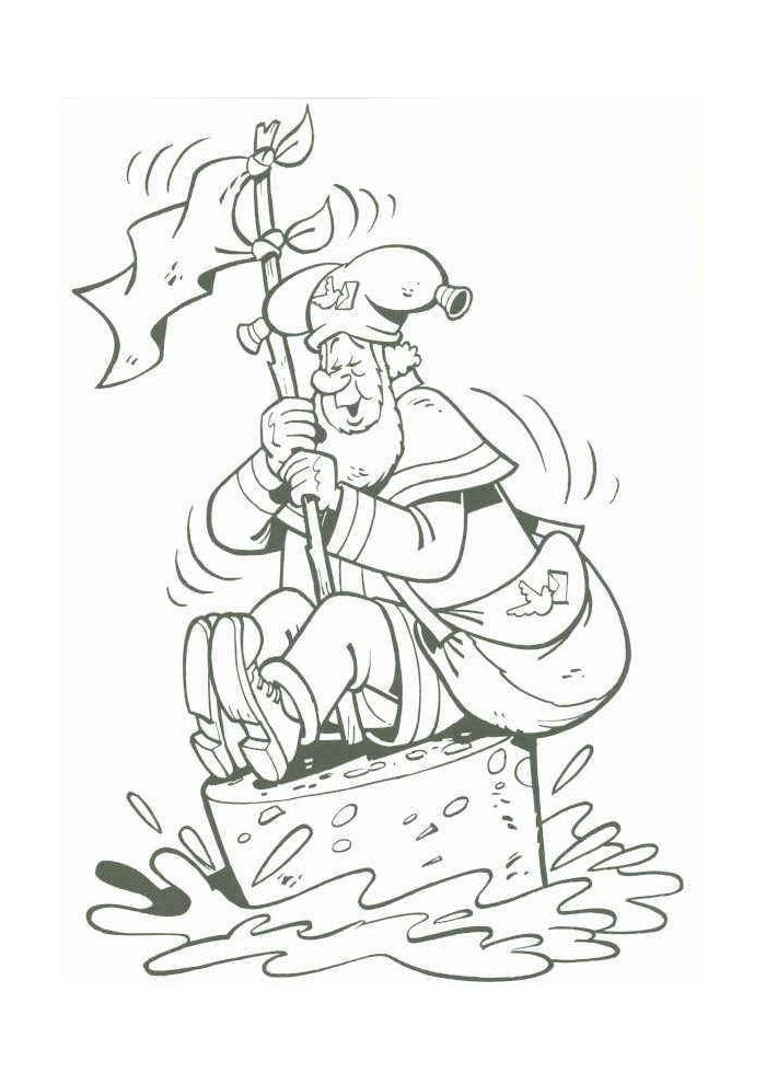 Kabouter Plop - plop zit op een boei
