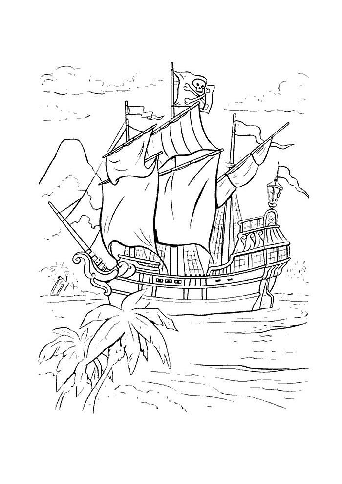 kapitein haak schip