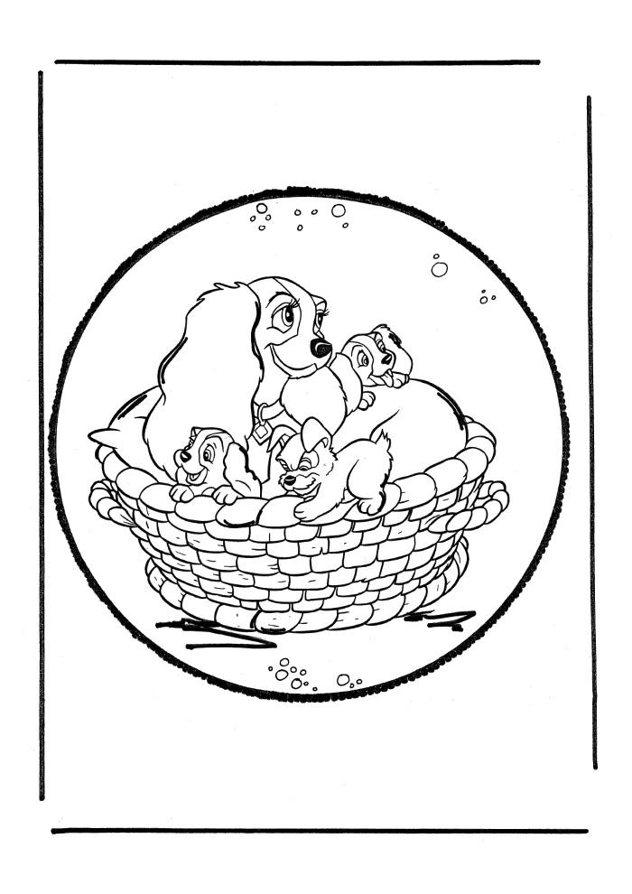 Lady en de Vagebond - het nestje