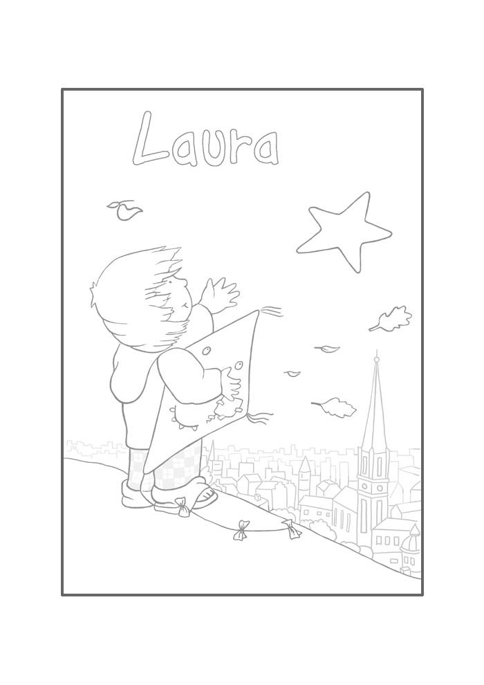 Laura 's ster -laura met vlieger