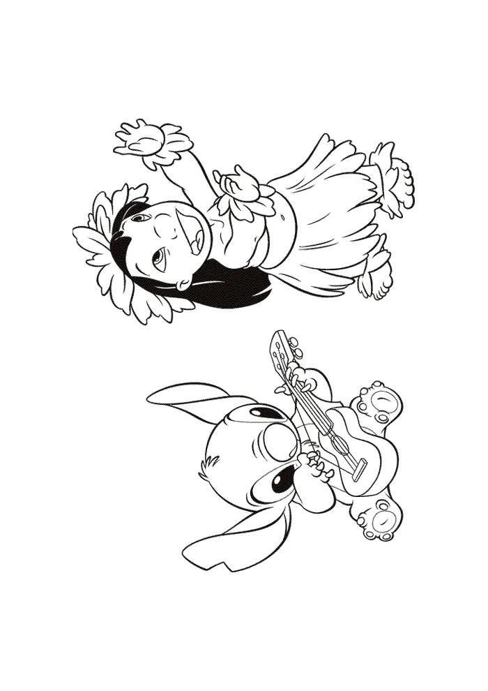 lilo en stitch haloa lilo en stitch kleurplaten
