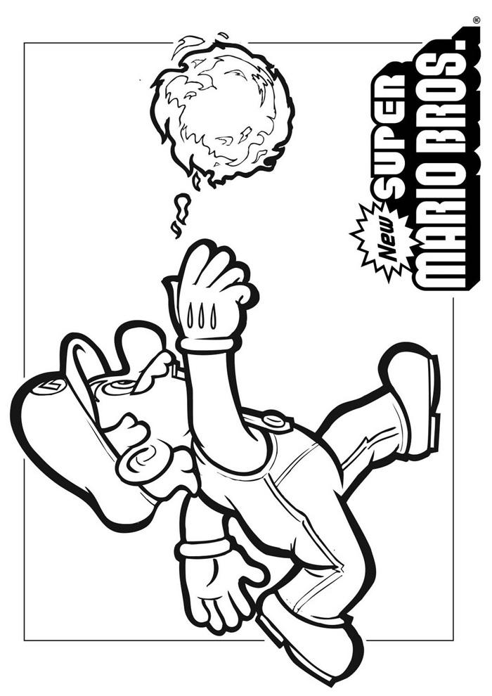 Mario Bros -mario gooit een bal
