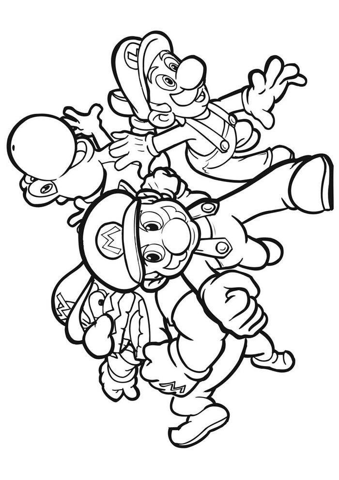 Leuke Kleurplaten Mario.Kleurplaten Mario En Zijn Vrienden Nvnpr