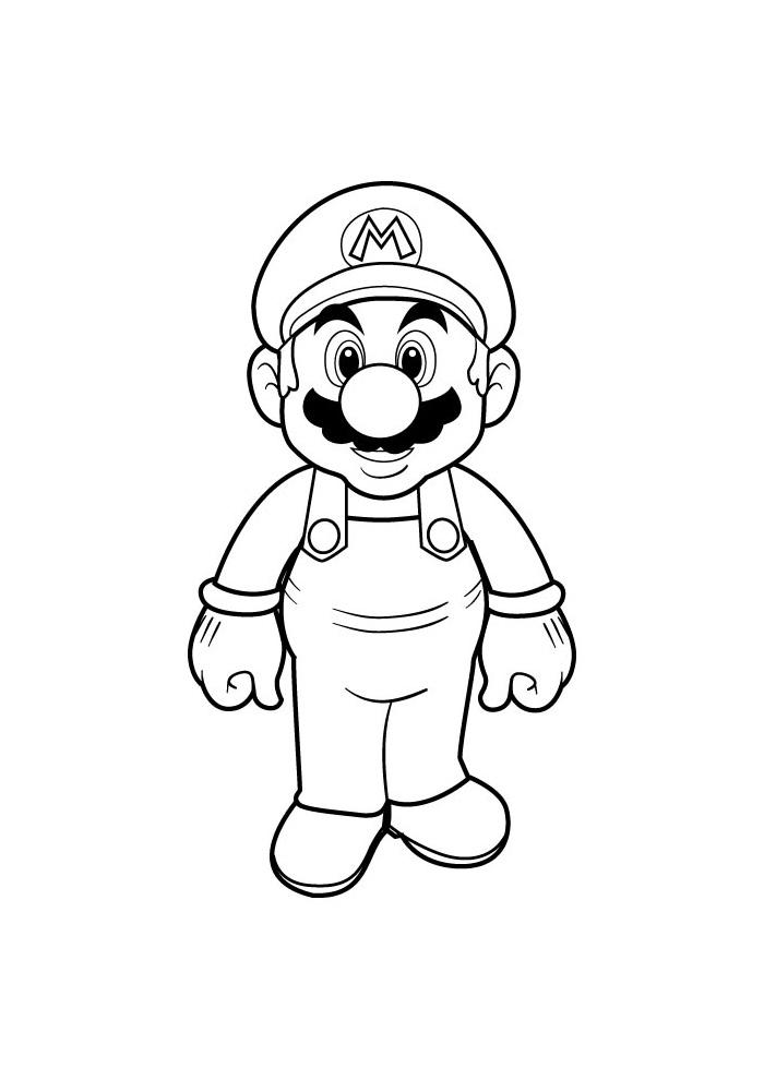 Kleurplaten Mario.Mario Bros Mario Mario Bros Kleurplaten Kleurplaat Com