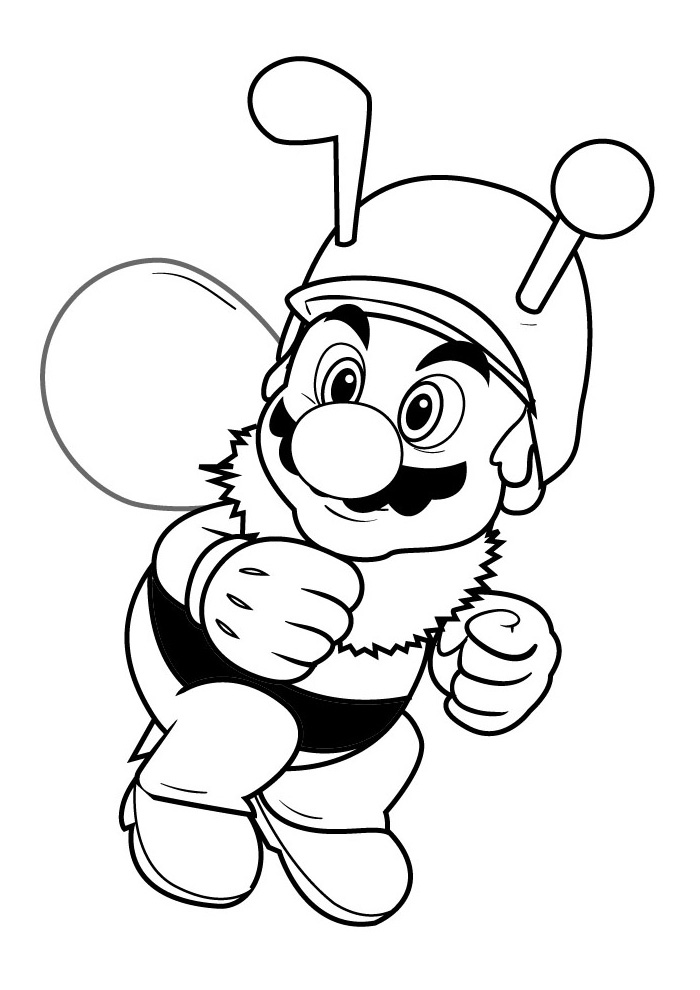 Mario Bros - mario als bij