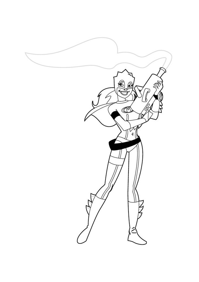 Mega Mindy -mindy met een pistool