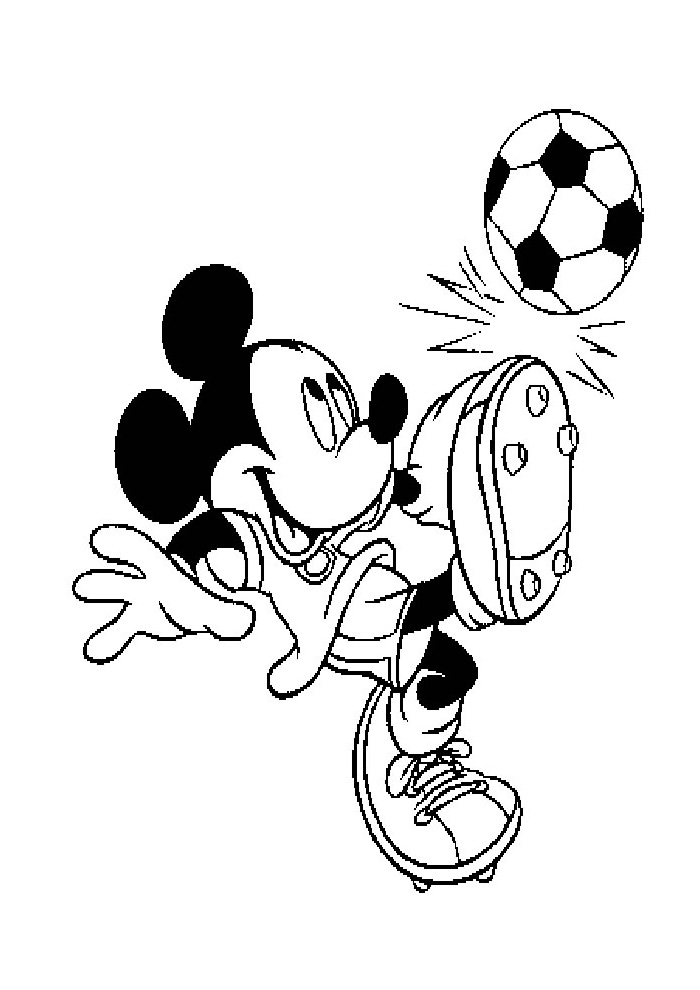 Mickey Mouse - voetbal