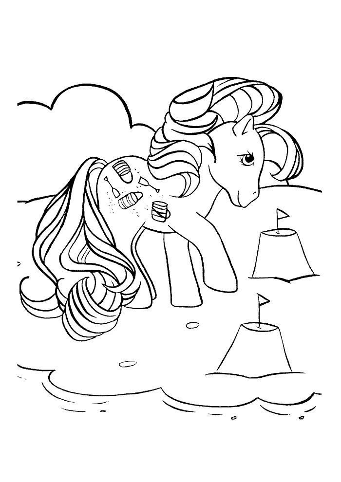 My Little Pony Op Het Strand My Little Pony Kleurplaten