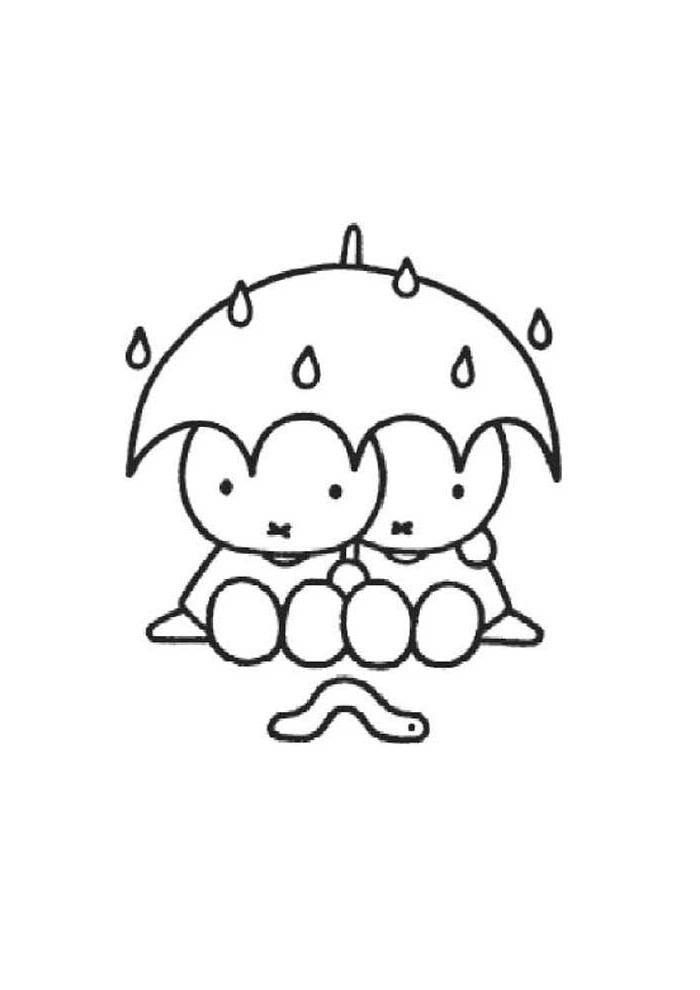 Nijntje - samen onder de paraplu