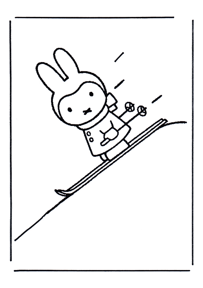 Nijntje - op de ski