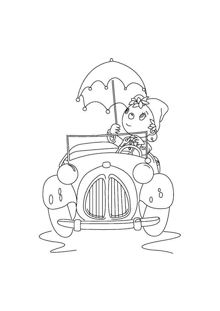 Noddy -  in de auto