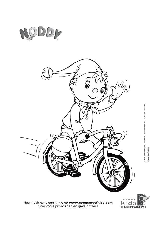 Noddy - op de fiets