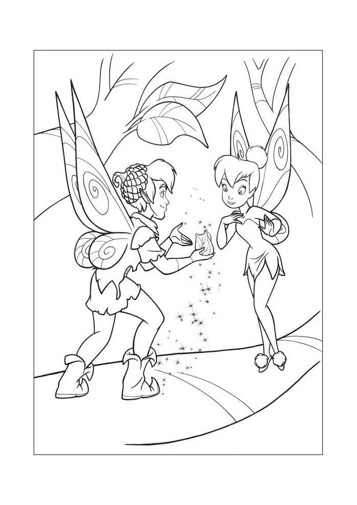 Kleurplaten Van Tinkerbell.Peter Pan Peter En Tinkerbell Peter Pan Kleurplaten Kleurplaat Com