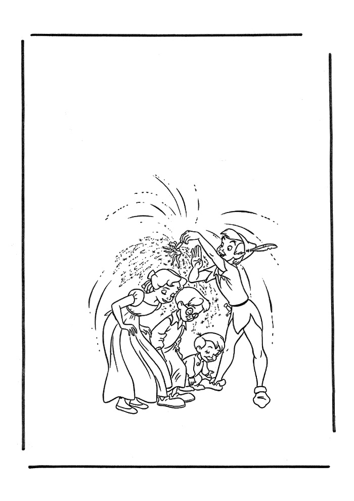 Kleurplaten Peter Pan En Tinkerbell.Peter Pan Stof Van Tinkerbell Peter Pan Kleurplaten Kleurplaat Com