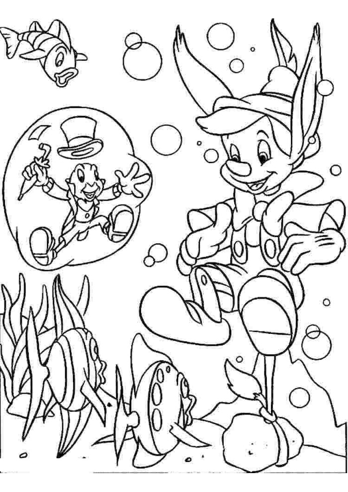 Pinokkio - onder water