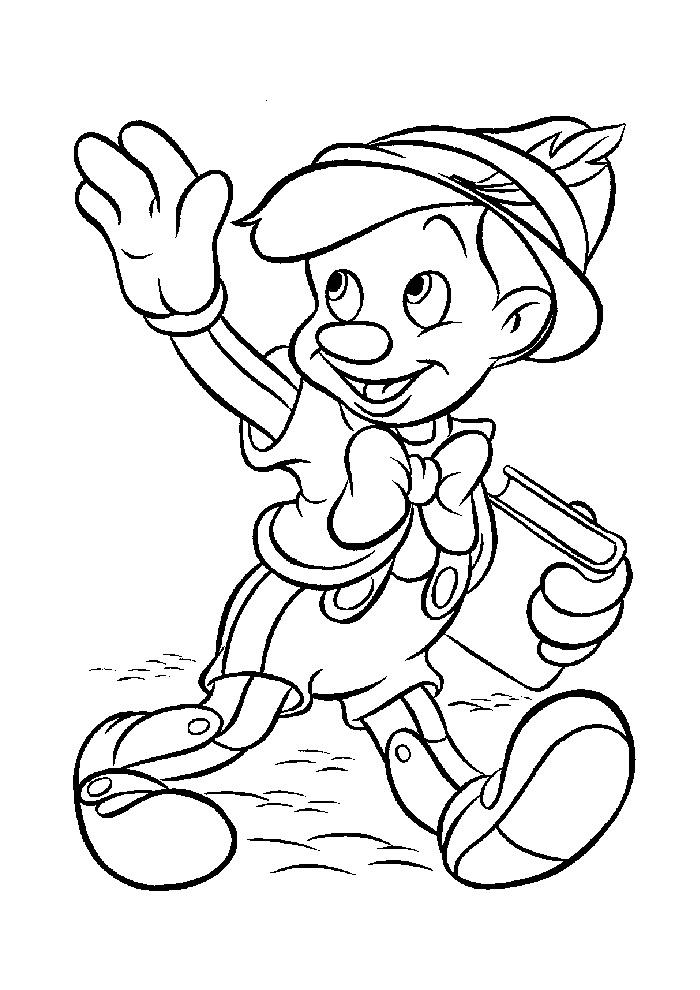 Pinokkio - zwaaien