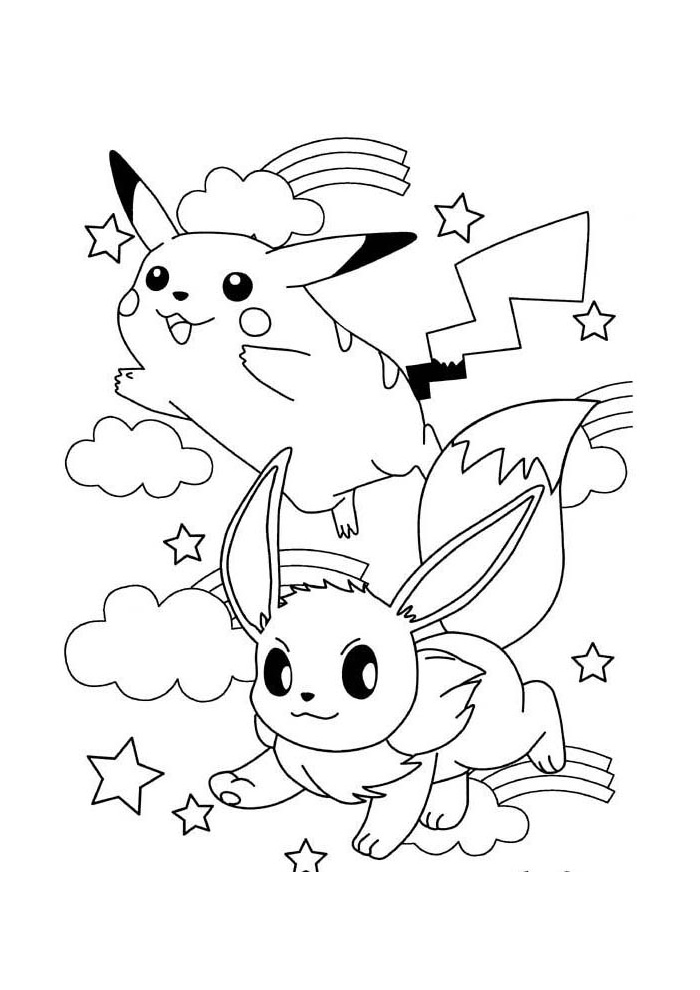 Pokemon Kleurplaten Afdrukken.Pokemon Vliegen In De Lucht Pokemon Kleurplaten Kleurplaat Com