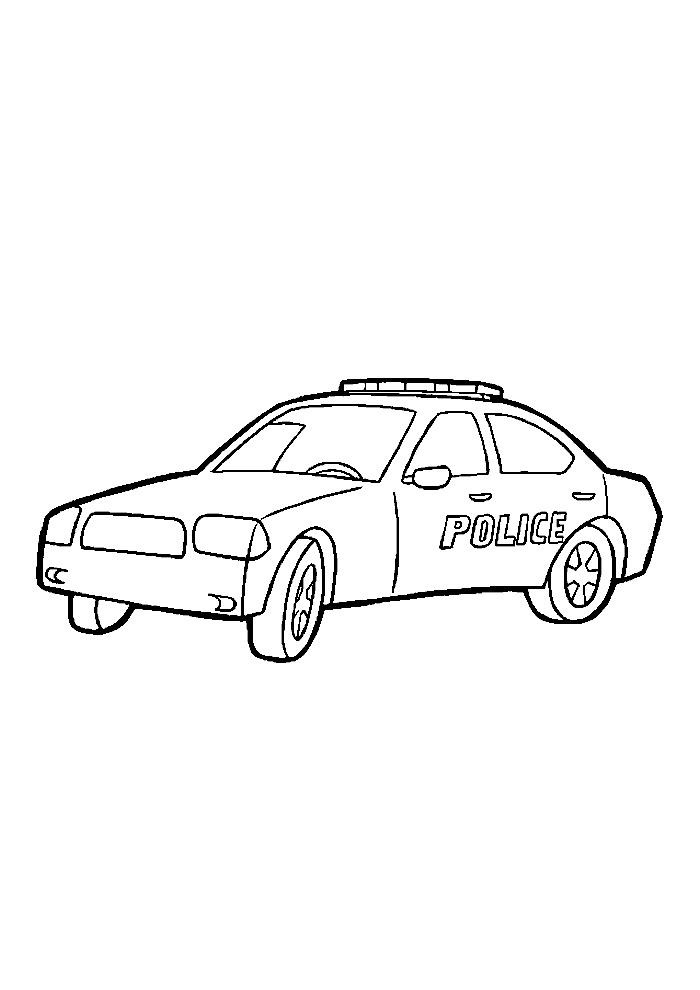 Kleurplaten Politieauto.Politieauto1 Politieauto Kleurplaten Kleurplaat Com