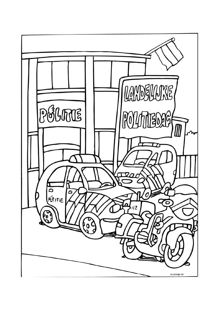 Kleurplaten Politieauto.Politieauto4 Politieauto Kleurplaten Kleurplaat Com
