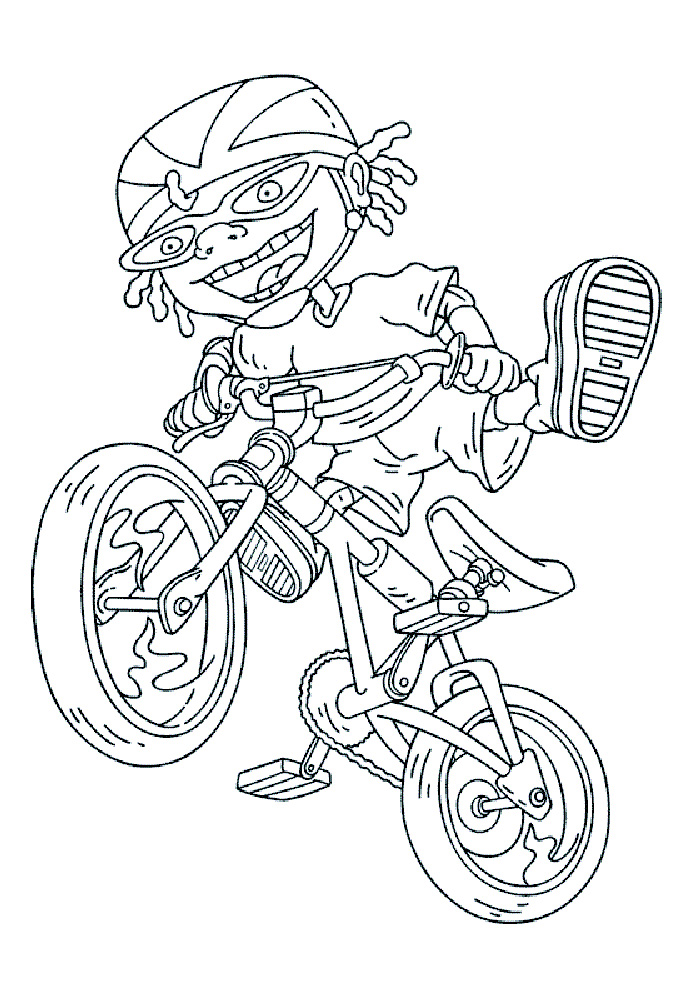 Rocket Power - op de fiets