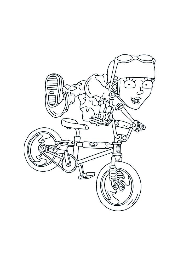 Rocket Power - reggie op de fiets