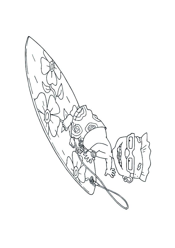 Rocket Power - sam op de surfplank
