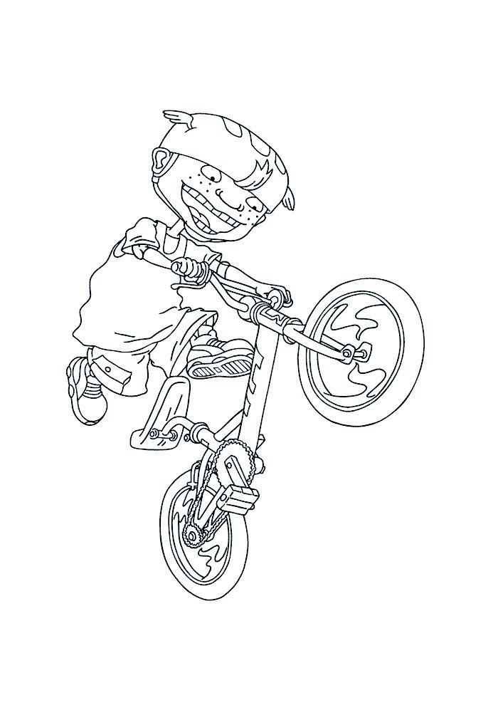 Rocket Power - twister op de fiets