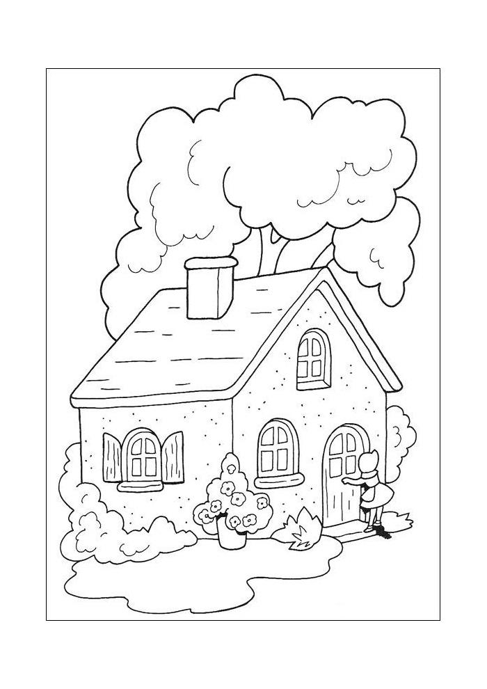 Kleurplaten Nieuw Huis.Roodkapje Het Huis Van Oma Roodkapje Kleurplaten Kleurplaat Com