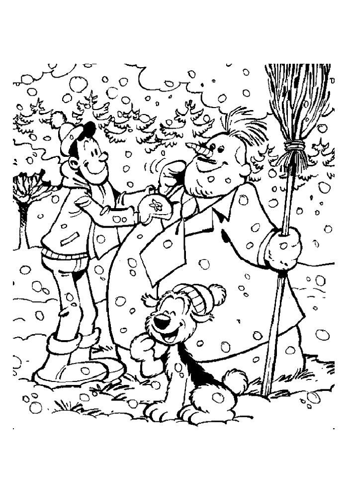 Samson en Gert - sneeuwpop maken