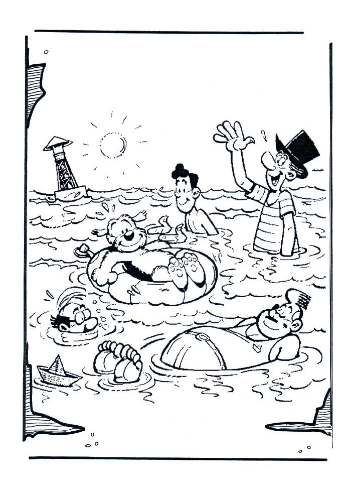 Samson en Gert - in het water