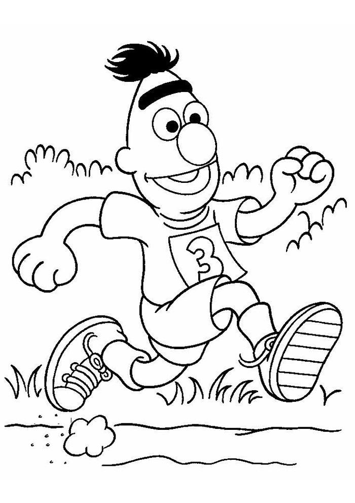 Sesamstraat - bert hardlopen