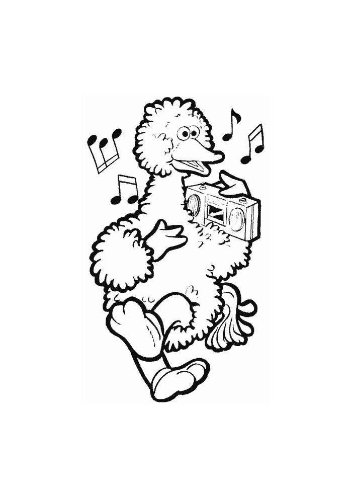 Sesamstraat - pino danst op muziek