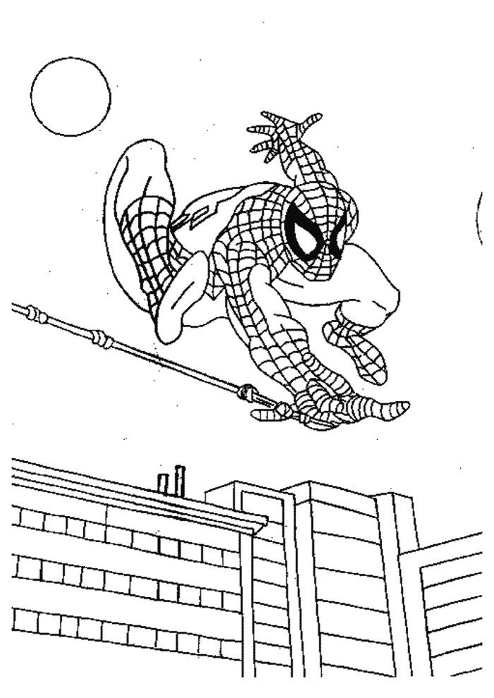 Spiderman - vliegen door de lucht