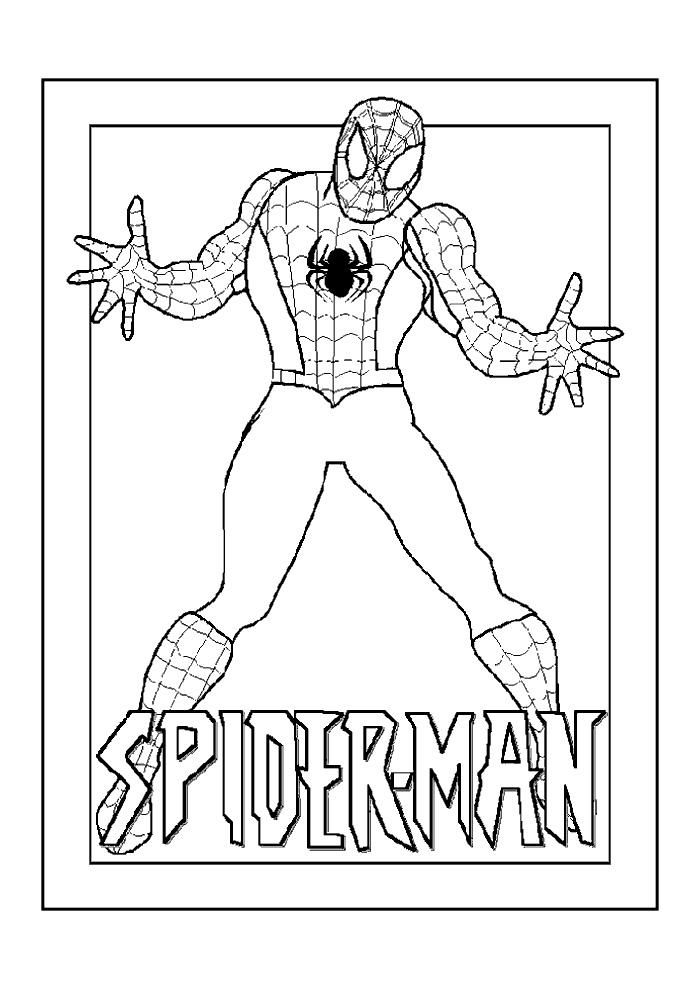 Spiderman Spiderman Spiderman Kleurplaten Kleurplaat Com