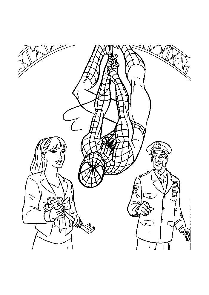 Spiderman - op zijn kop hangen