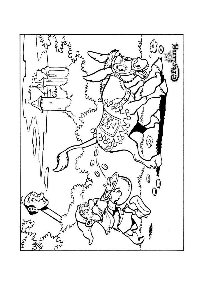 sprookjesboom ezel sprookjesboom kleurplaten