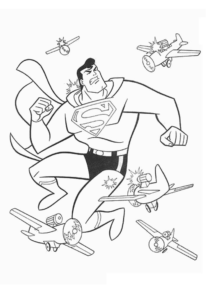 superman tussen de vliegtuigen