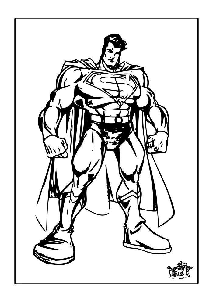 superman4  superman kleurplaten  kleurplaat