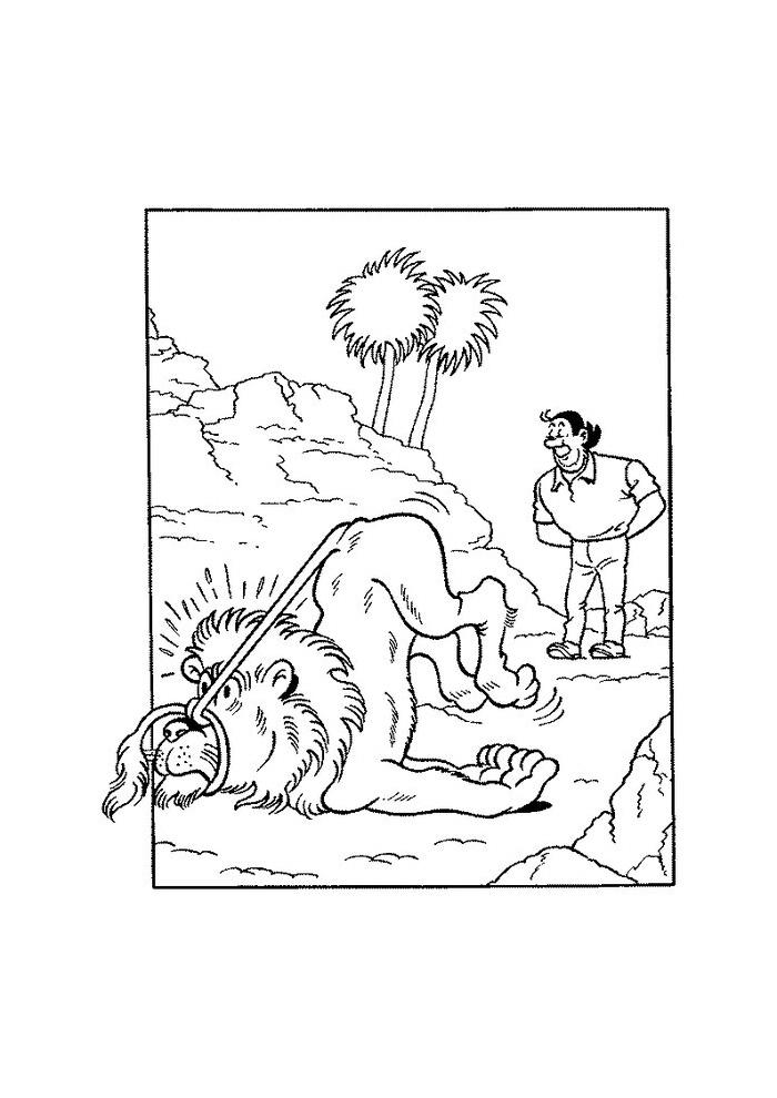 suske en wiske jerom vangt een leeuw