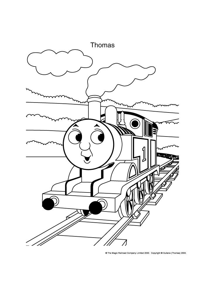 Thomas de trein - op de rails