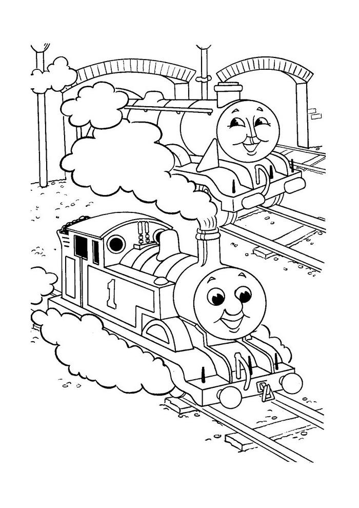 Thomas de trein - samen op de rails