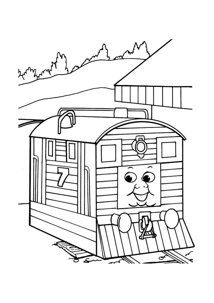 Thomas de trein - treintje van hout
