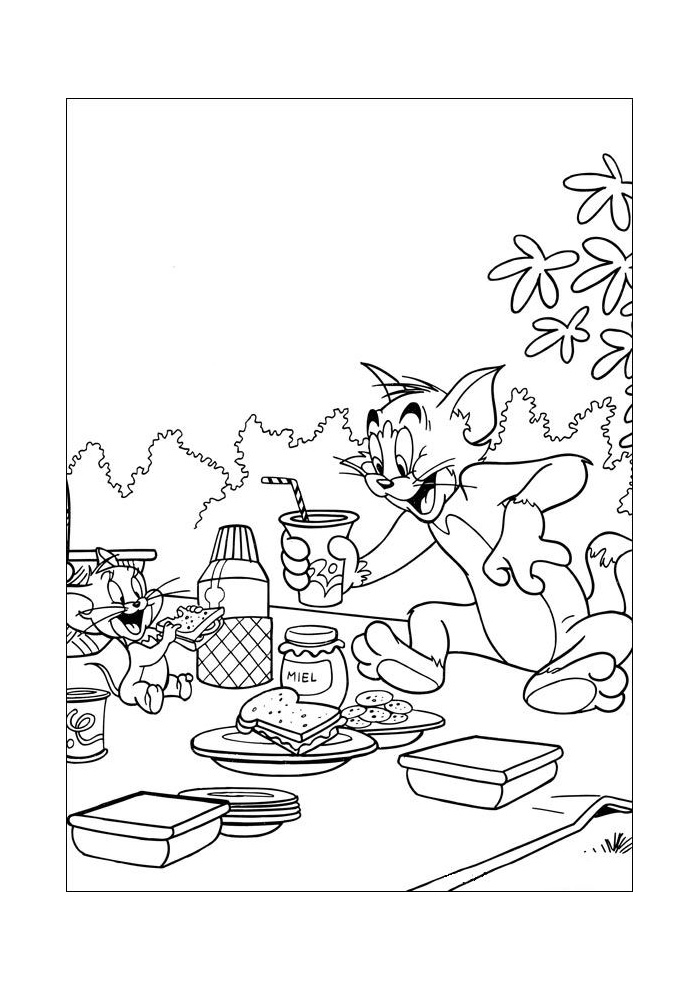 Tom en Jerry - lekker eten