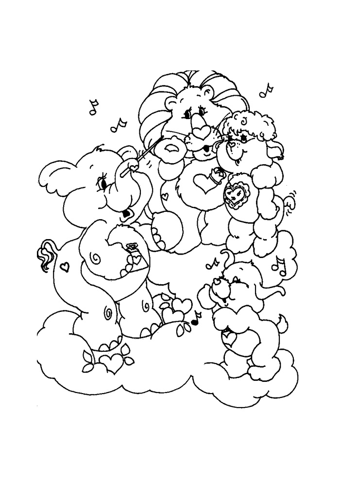 carebear cousin coloring pages - photo#10