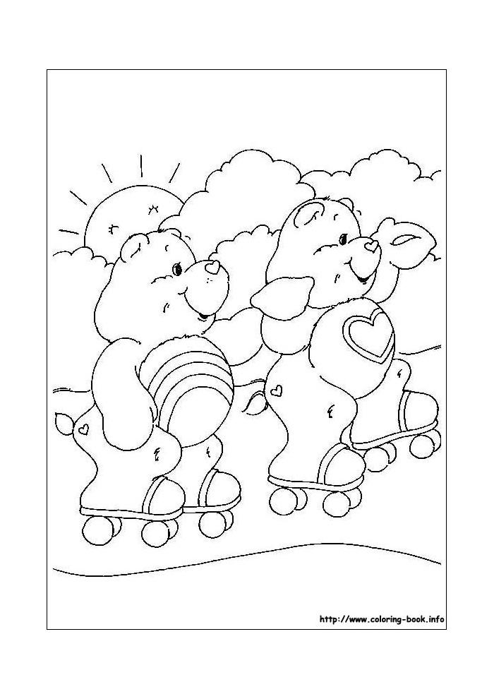 troetelbeertjes rolschaatsen troetelbeertjes kleurplaten
