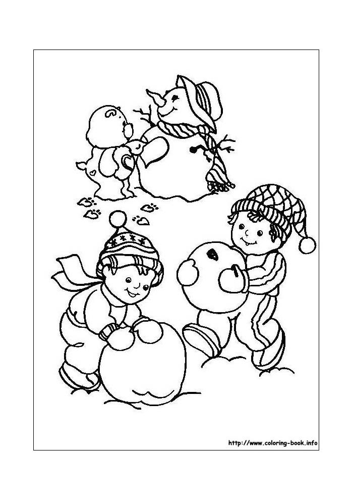 troetelbeertjes sneeuwpop maken