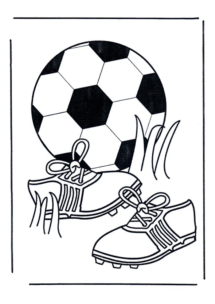voetbal bal en schoenen voetbal kleurplaten kleurplaat