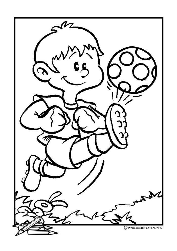 Kleurplaten Van Een Voetbal.Voetbal9 Voetbal Kleurplaten Kleurplaat Com